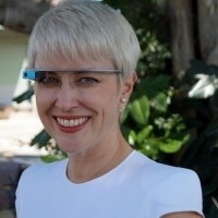Cathie Reid google glass